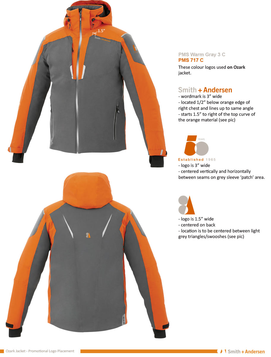 50 Years branding jackets for senior staff
