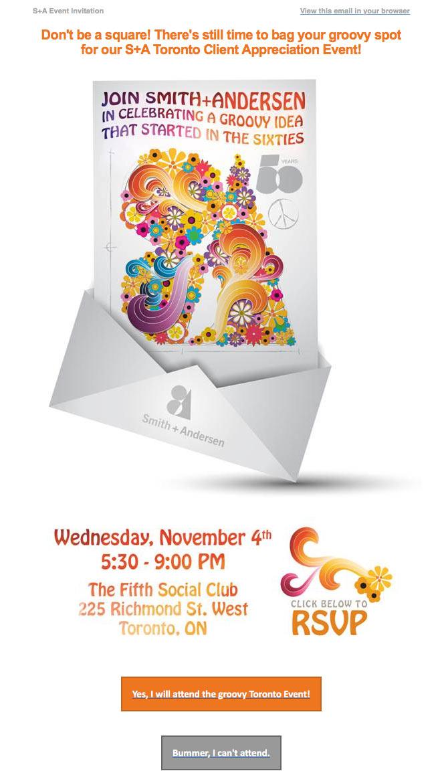 50th Client Appreciation Event email invitation