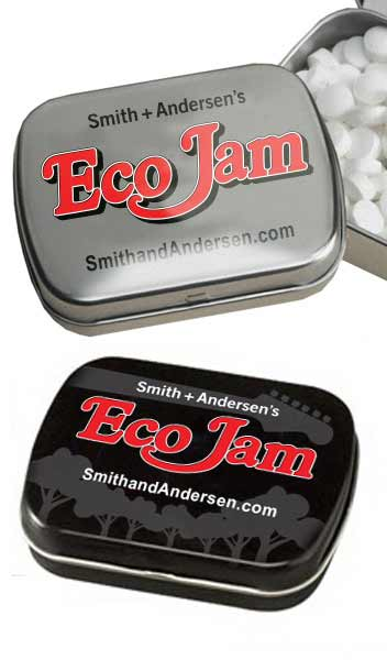 Eco Jam mint tins merchandise
