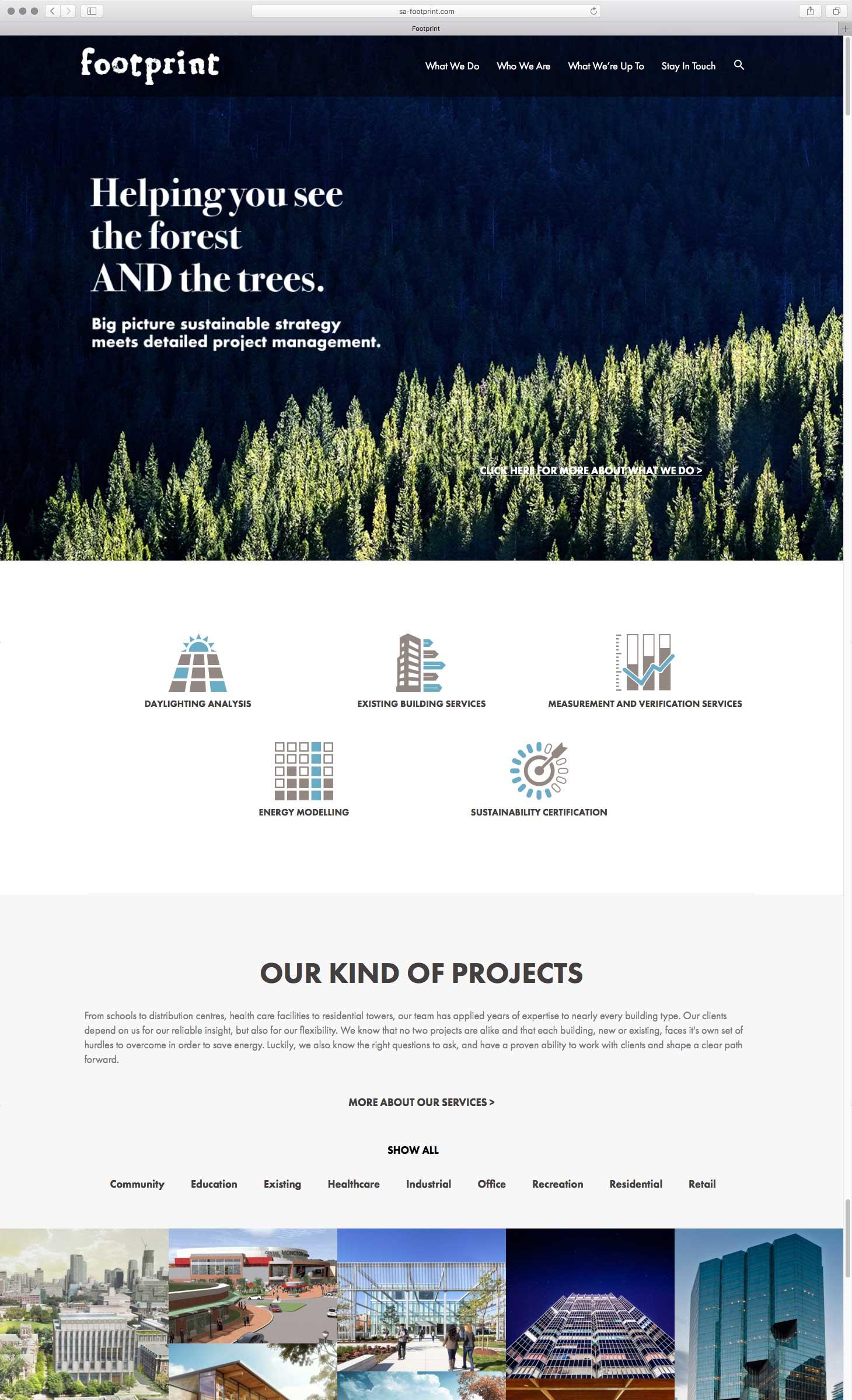 Footprint Homepage top