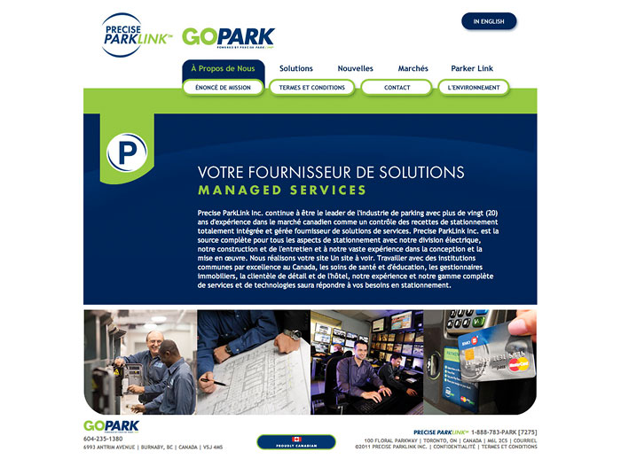 PreciseParkLink.com : mirrored French translated pages
