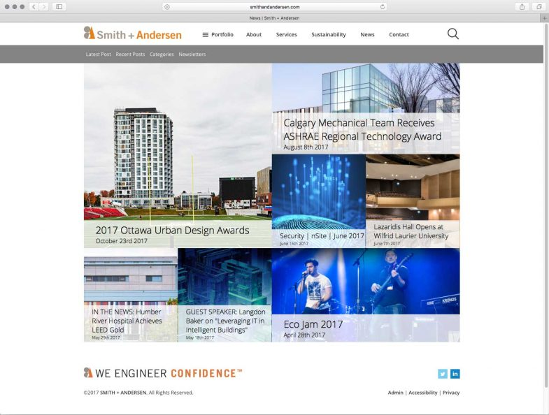 Smith + Andersen News/Blog Overview page