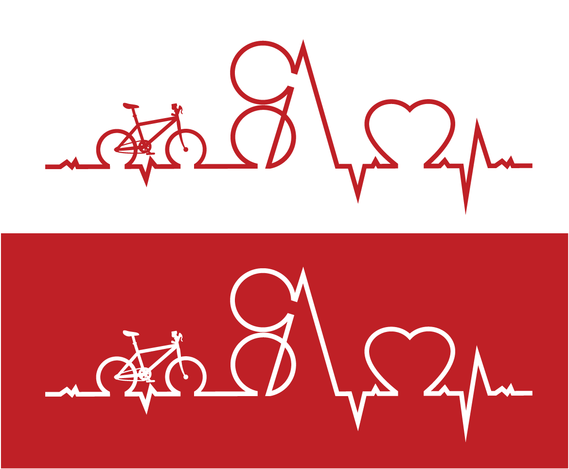 S+A Ride for Heart Logo Variations