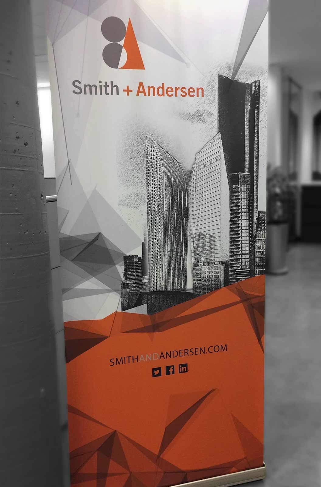 S+A Branded Retractable Banner Stand