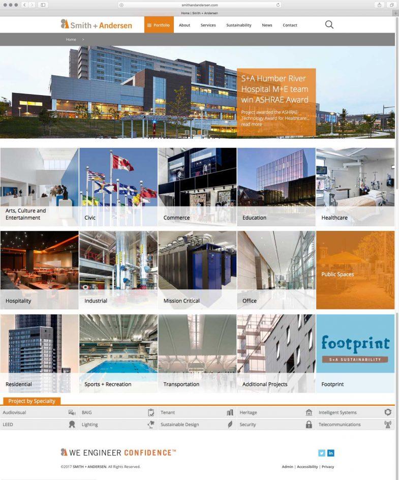 Smith + Andersen Homepage