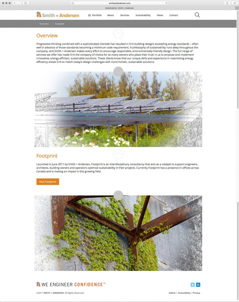 Smith + Andersen Sustainability page