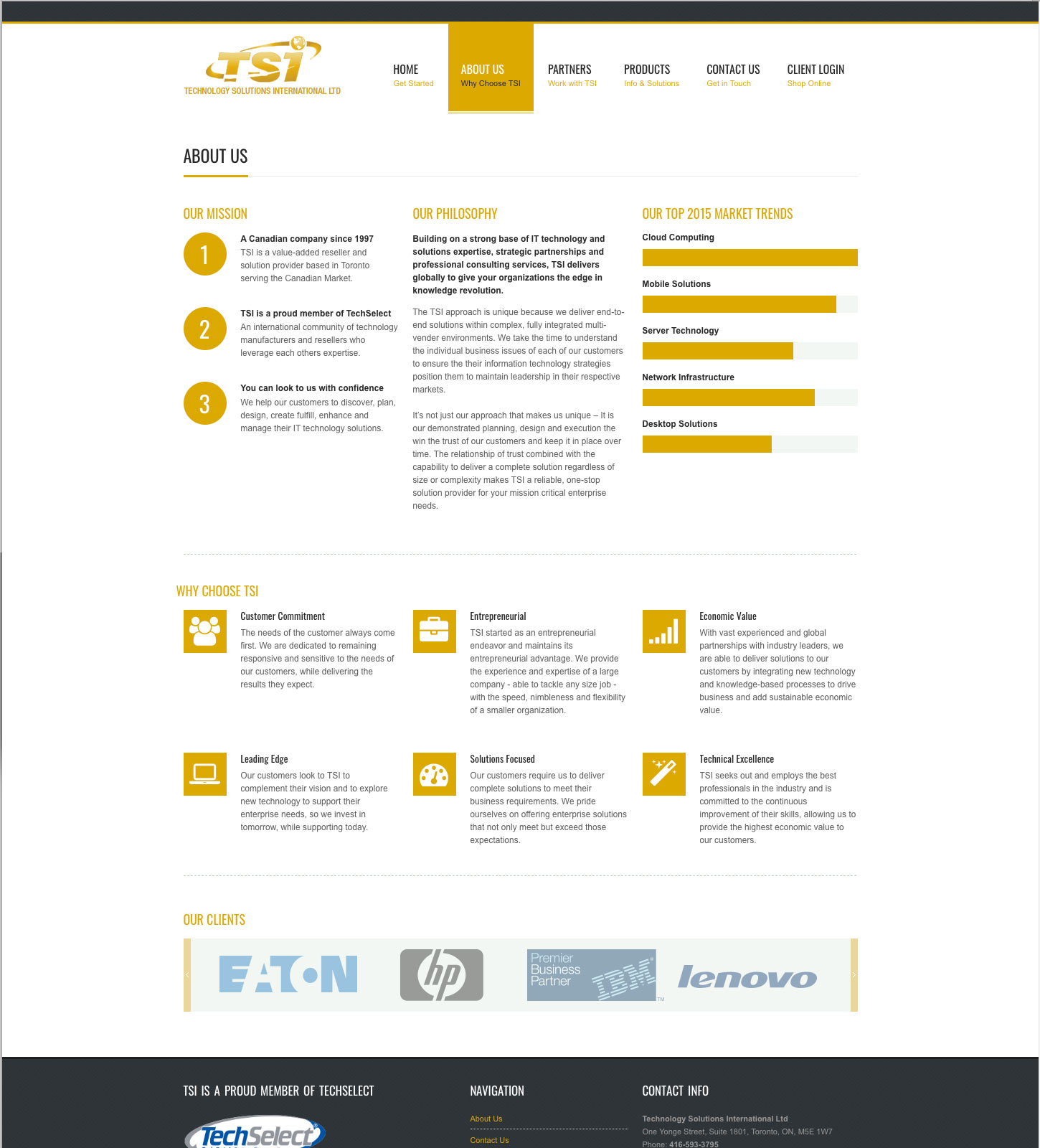 TSI.ca Responsive Website Design: About