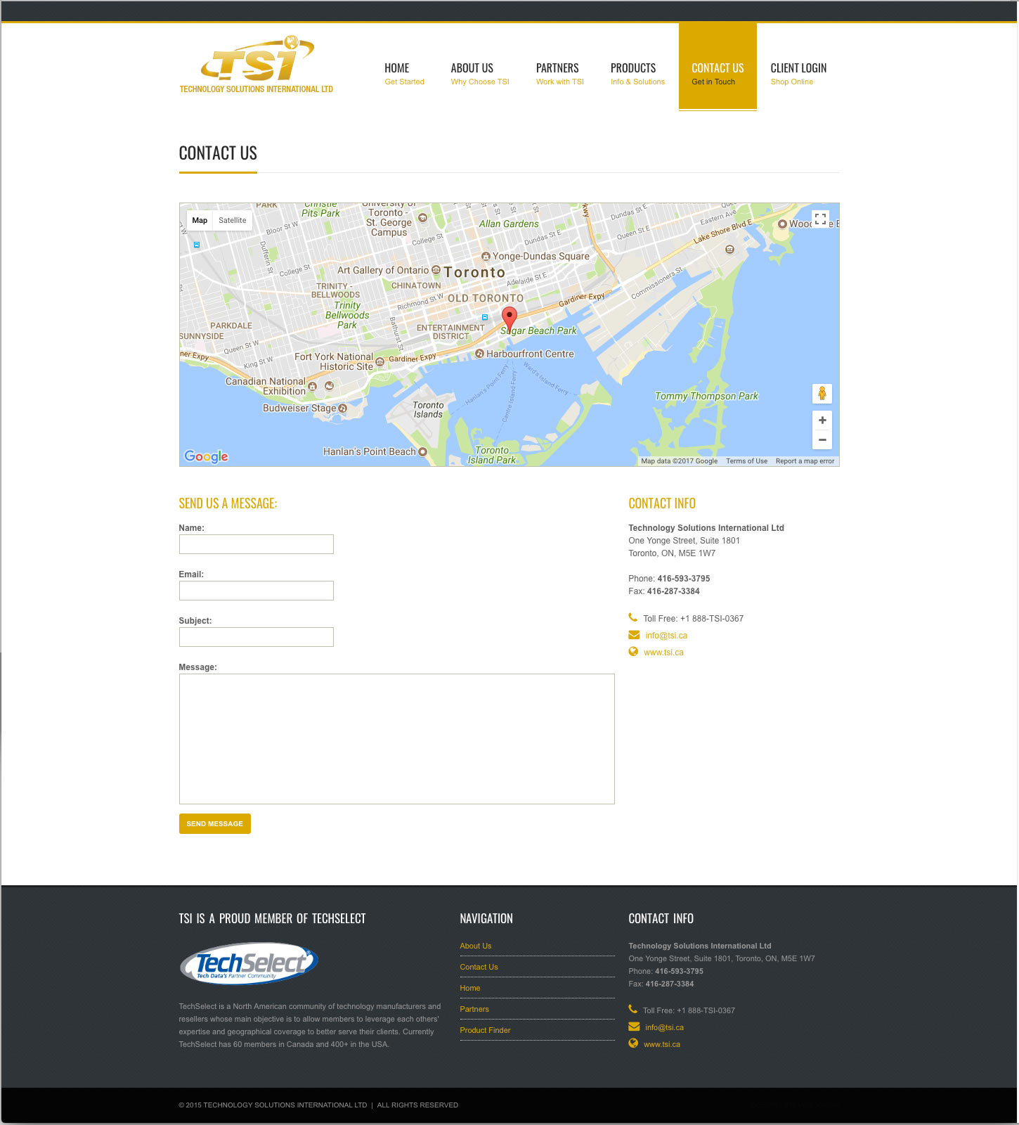 TSI.ca Responsive Website Design: Contact