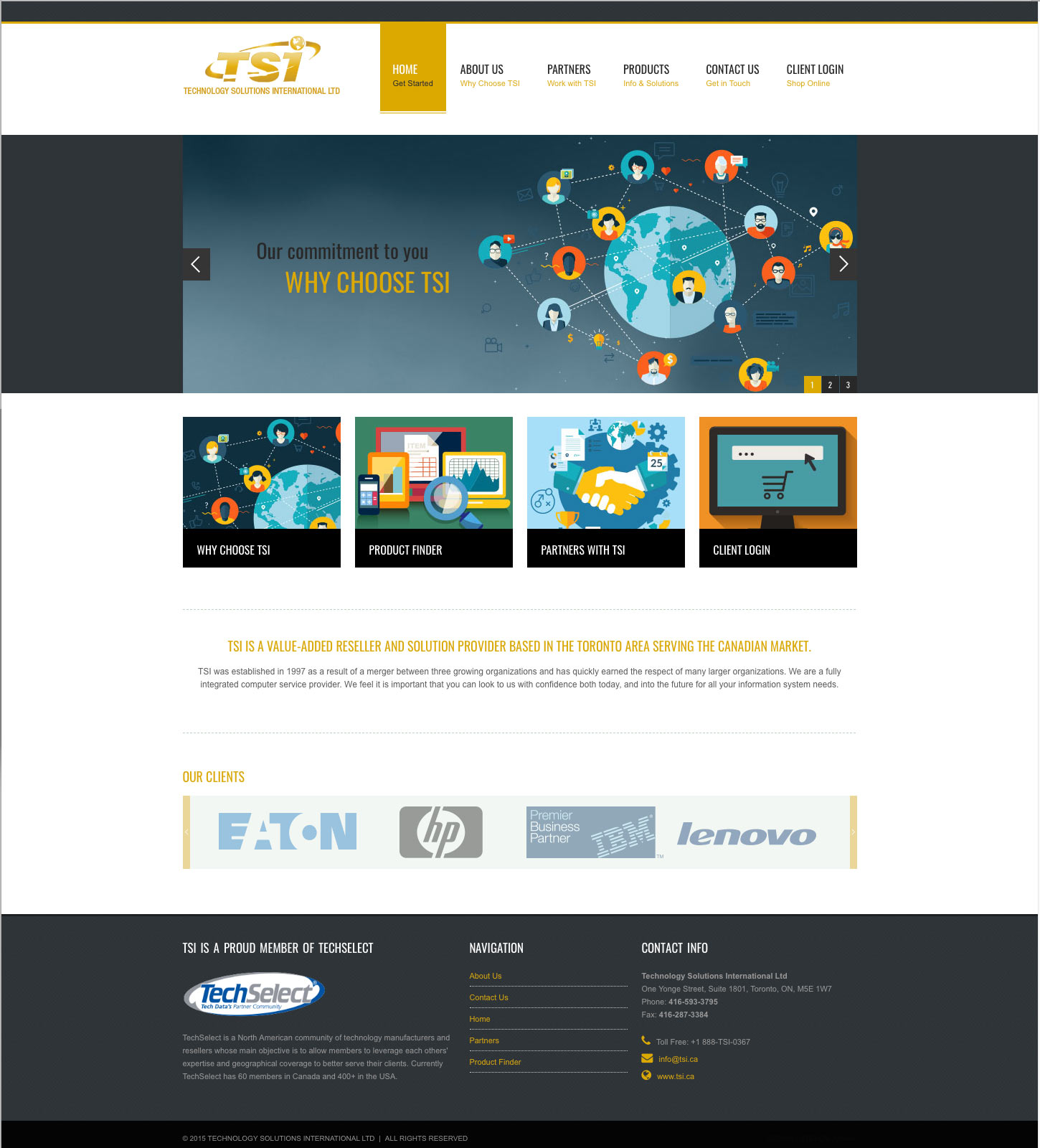 TSI.ca Responsive Website Design: Homepage