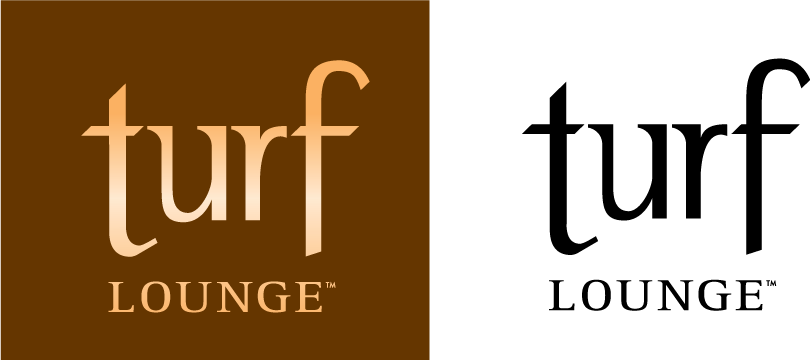 Turf Lounge colour and black logo
