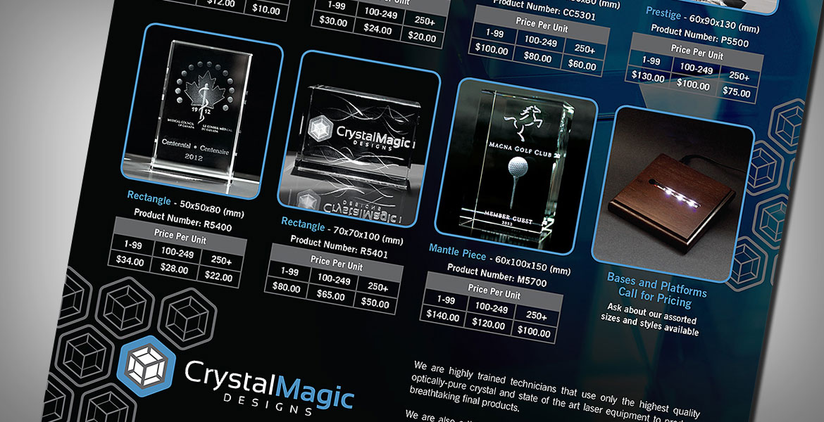 Crystal Magic: Sales Sheet detail