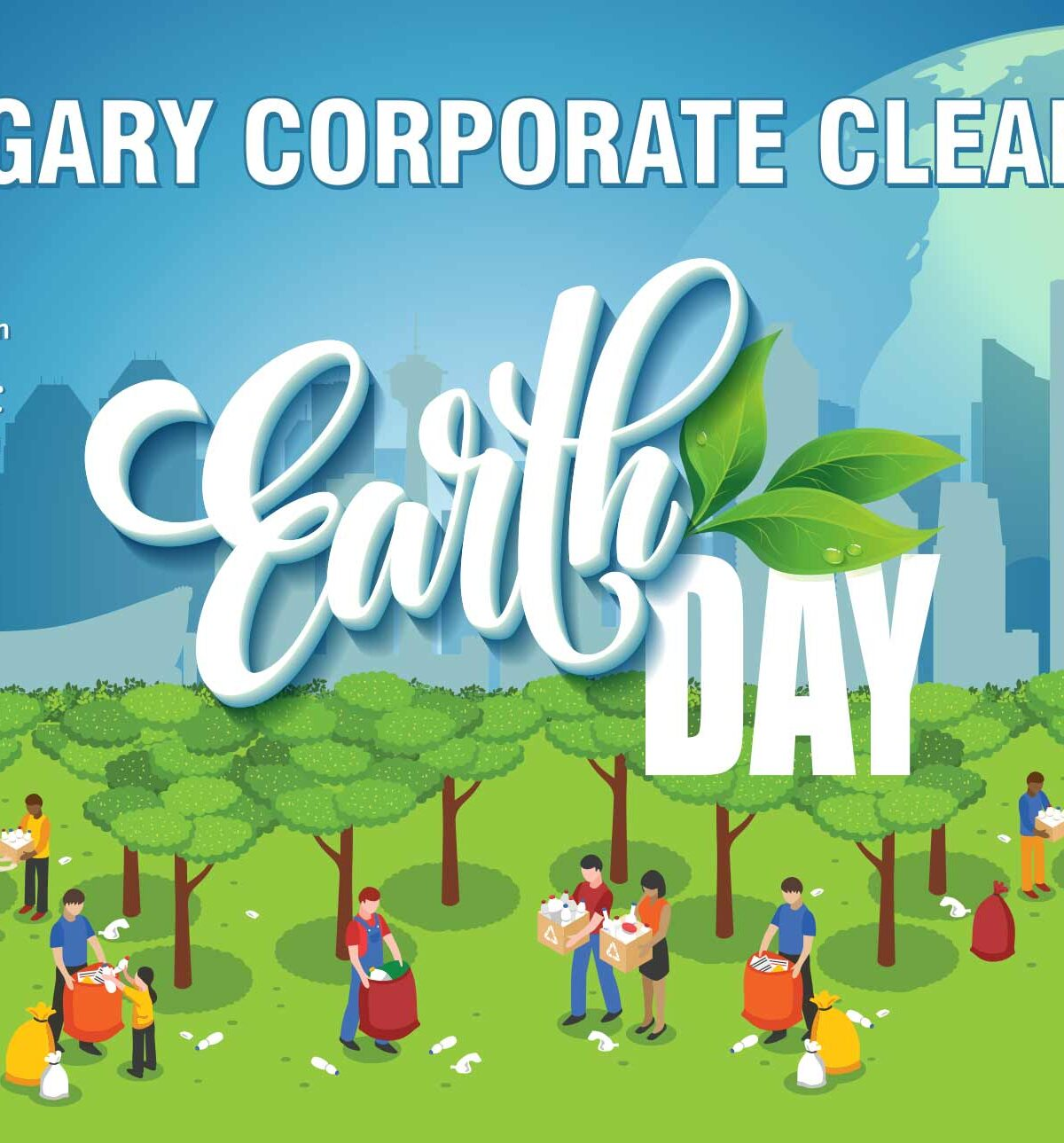 Calgary office corporate Earth Day 2' x 3' poster