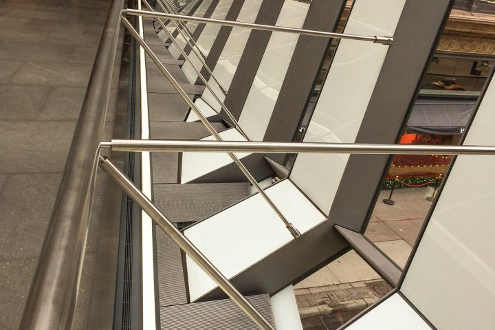 Structural detail of pedestrian bridge