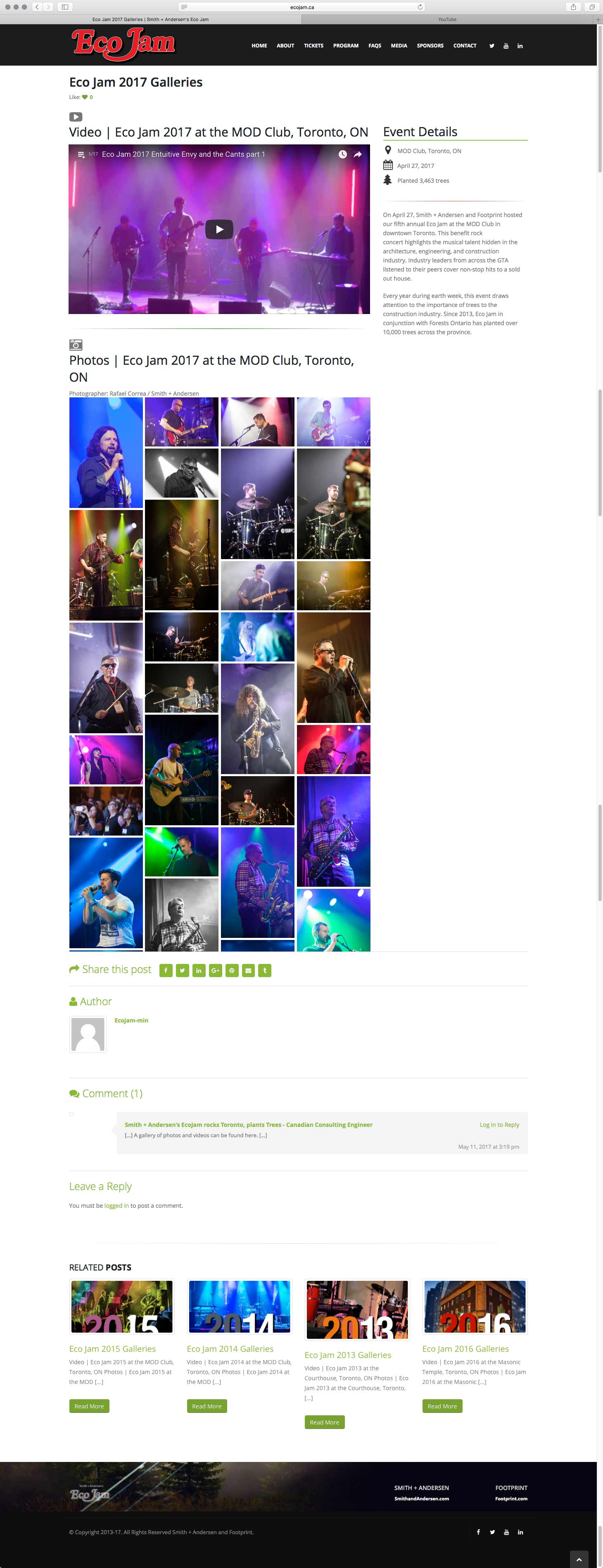 Eco Jam Media 2017 page