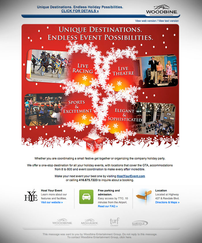 e-Newsletter // HTML Email : Holiday promotion for HostYourEvent.com