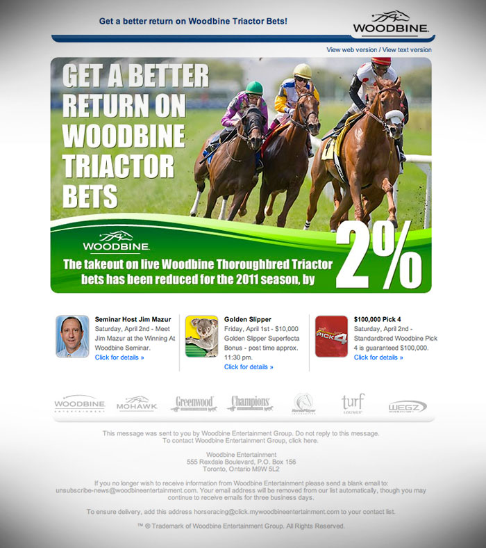 e-Newsletter // HTML Email :  Wagering promotion