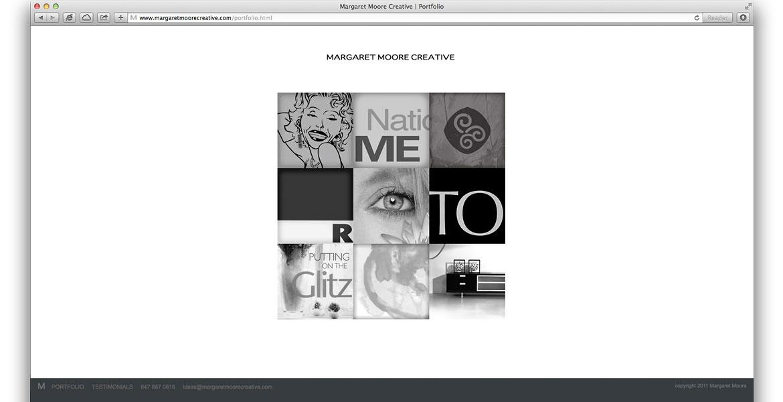 MargaretMooreCreative.com Website: Portfolio page