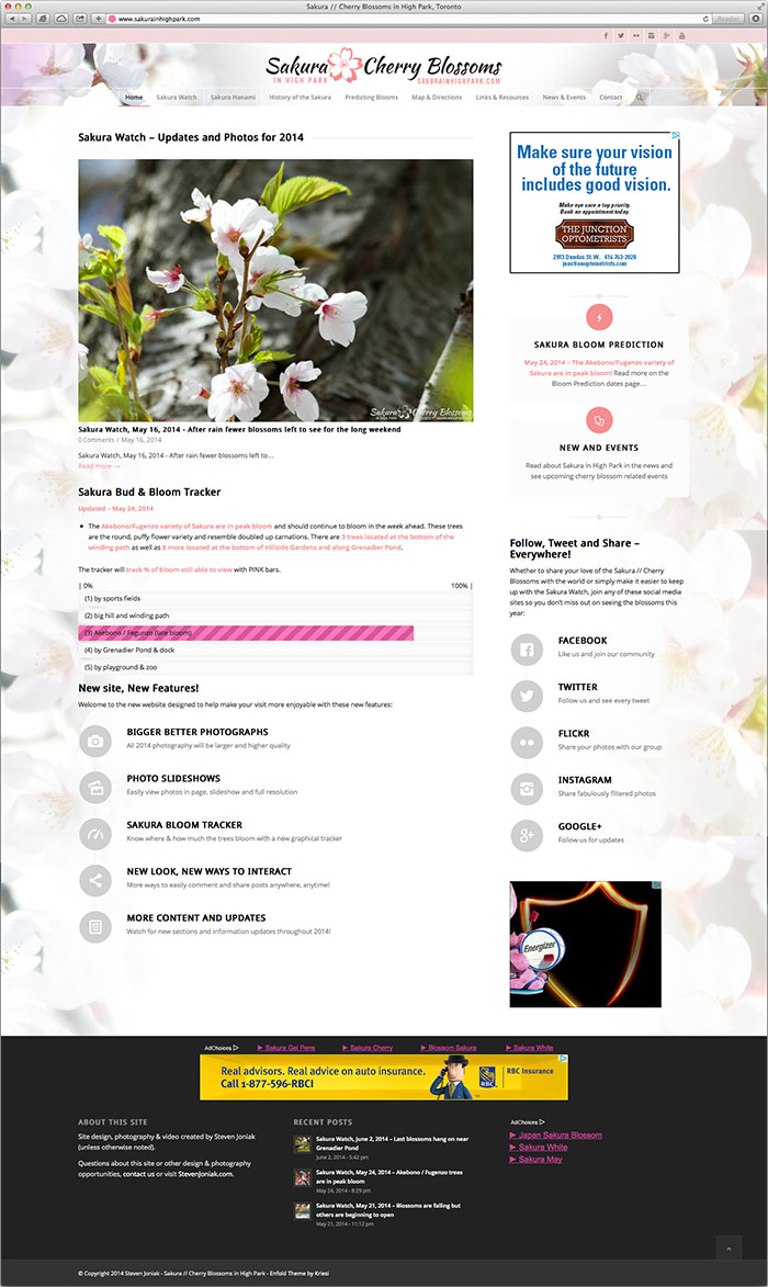 SakurainHighPark website homepage