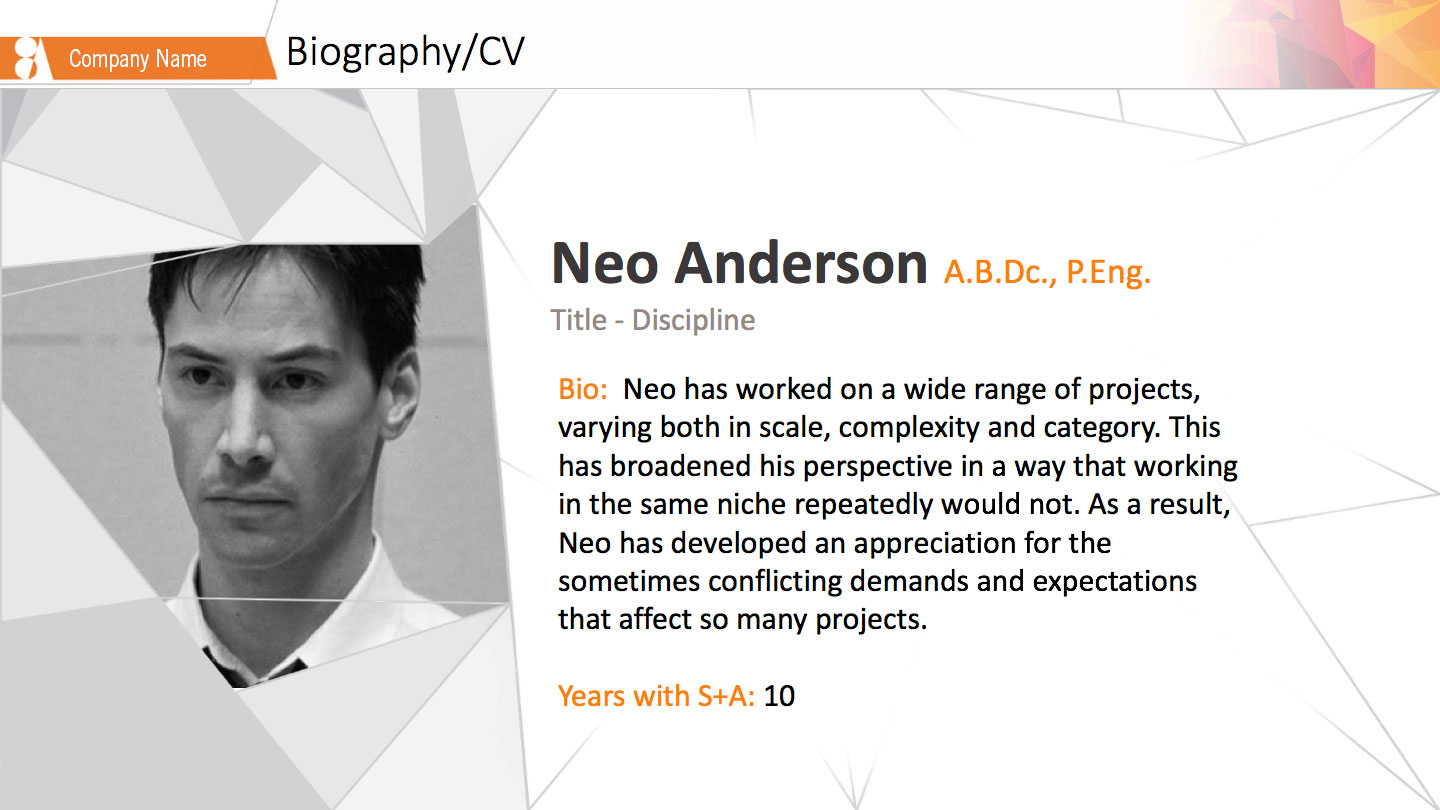 Biography Profile slide