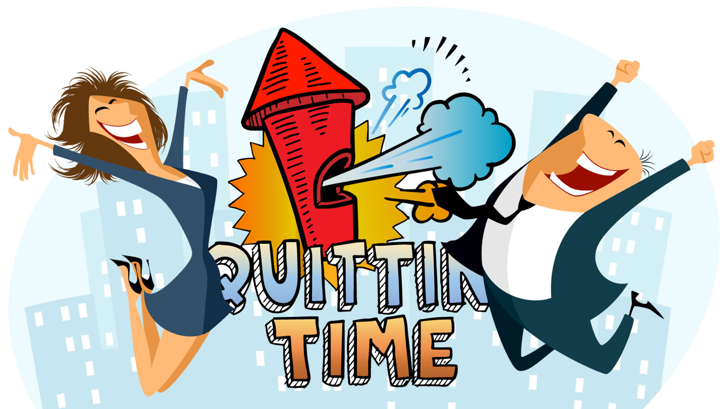 Quitting Time Animated Slide