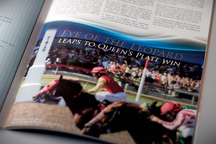 Queen's Plate 151st Program : Interior feature layout