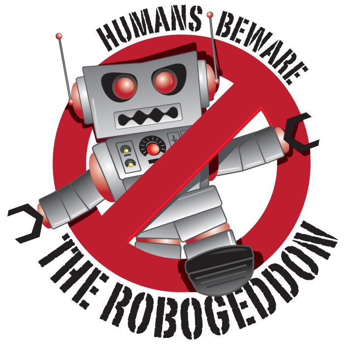Robogeddon : Logo badge concept