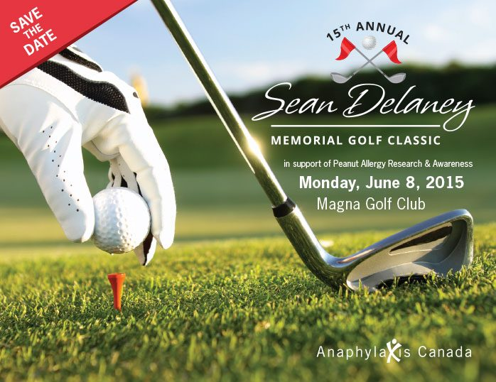 Sean Delaney Golf Tournament - Save the Date front