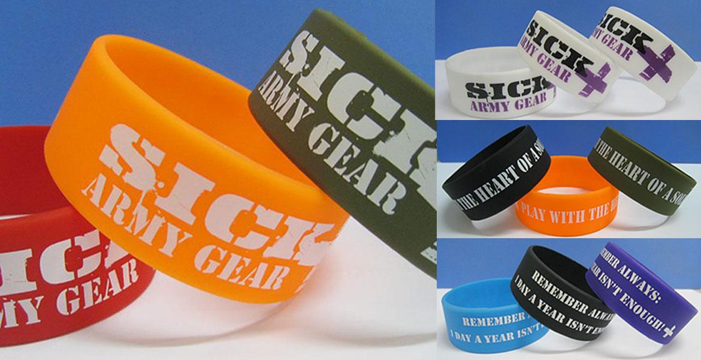 SICK Army Gear Branding - Wrist bands