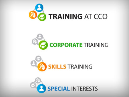 Training at CCO logos