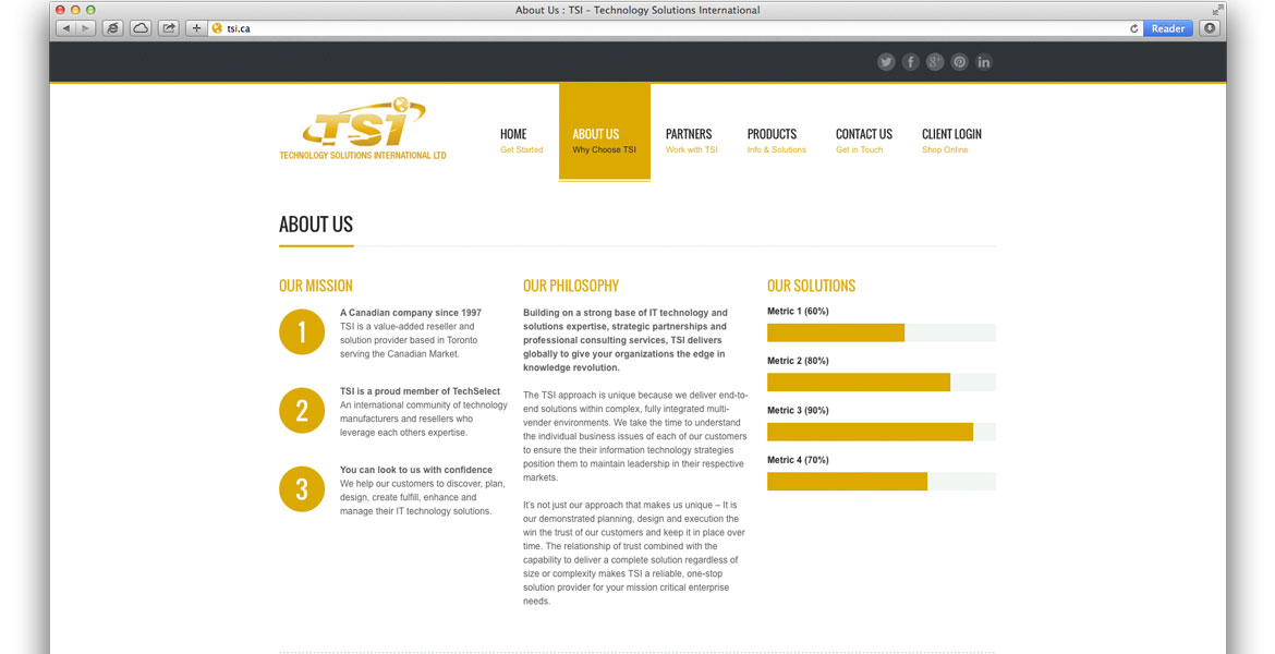 TSI.ca Responsive Website Design: About Us