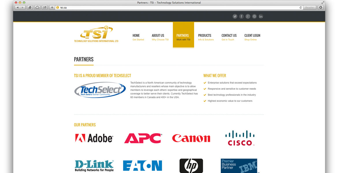 tsi ca responsive website design