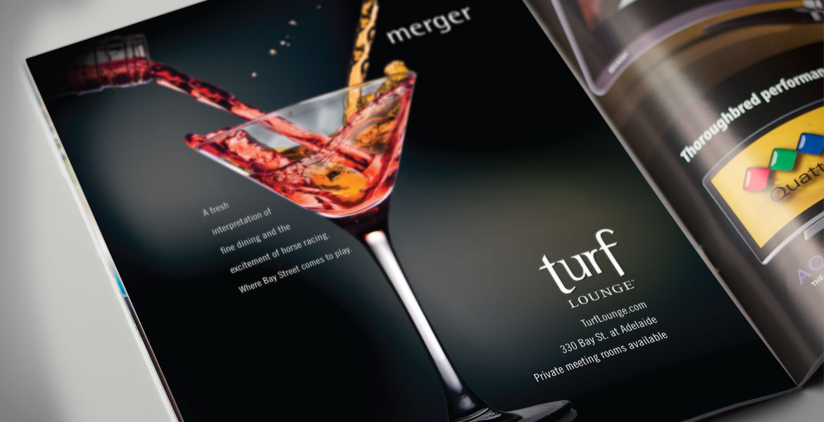 Turf Lounge: Newspaper and Magazine Advertisment