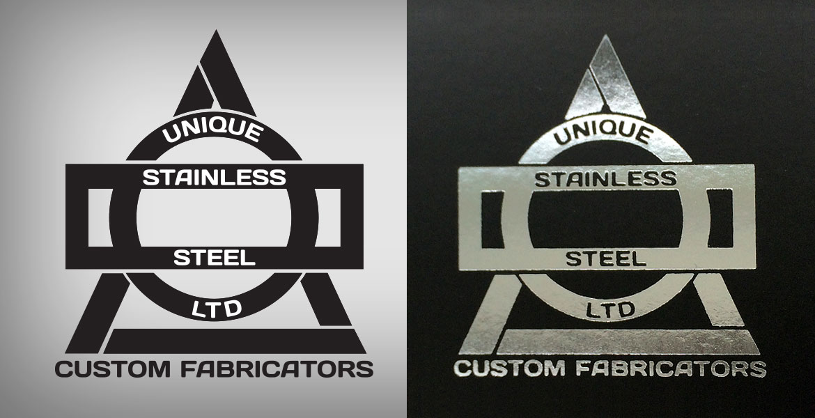 Unique Stainless Steel Logo & Branding