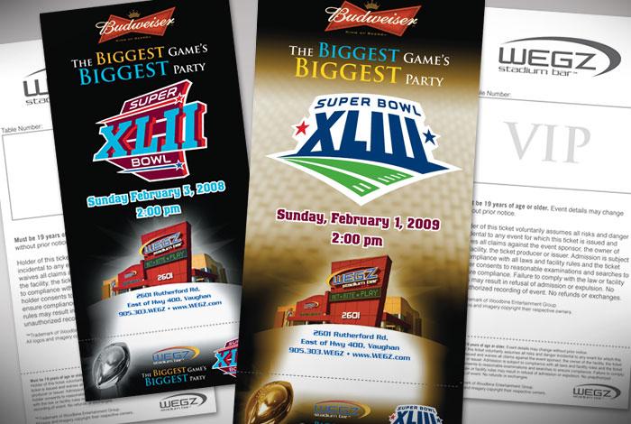WEGZ Stadium Bar : Branded special event tickets