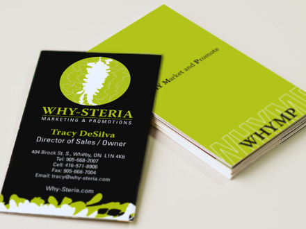 Why-Steria Marketing & Promotions : Business cards