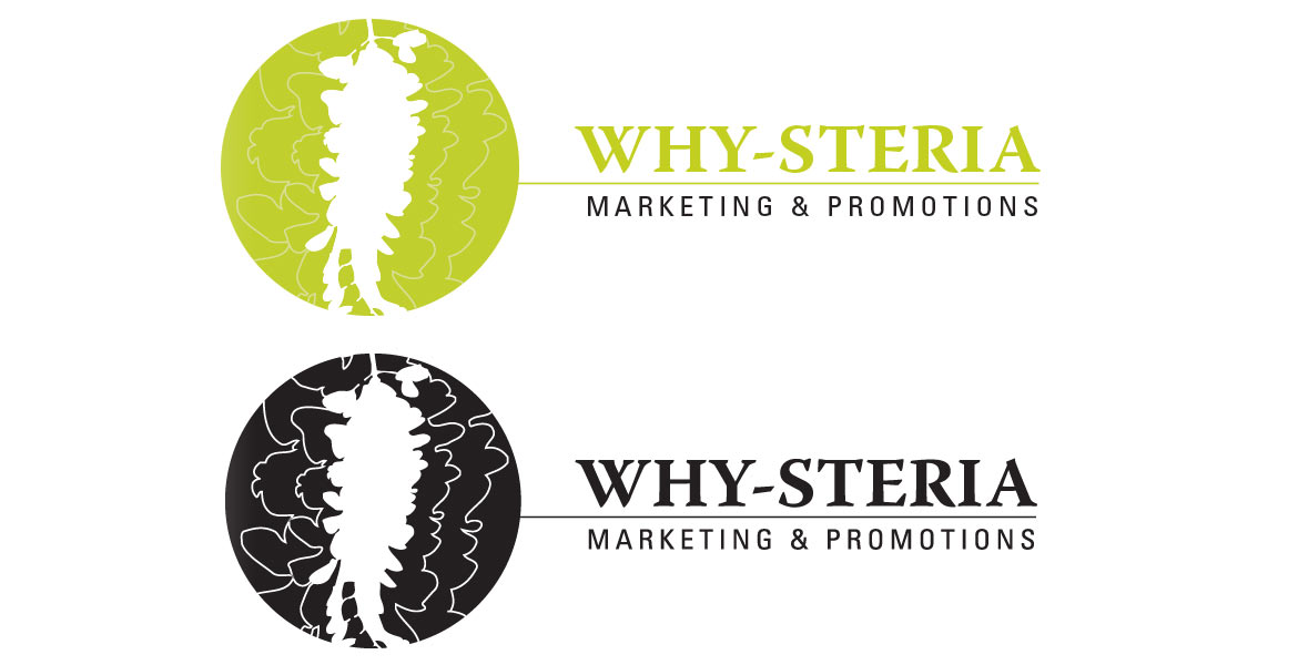 Why-Steria Marketing & Promotions : horizontal logos light and dark versions