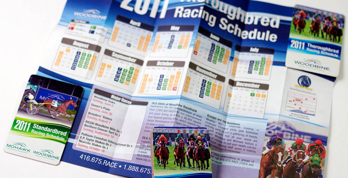 Z-Card Woodbine & Mohawk Racing Calendar: Thoroughbred detail